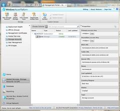 Storage Account on Windows Azure Management Portal