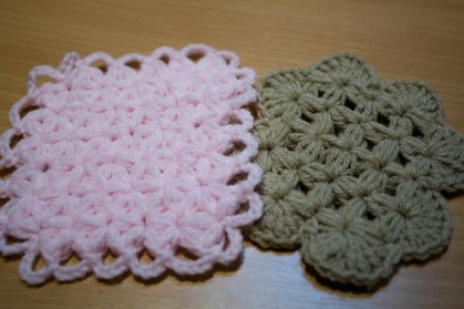 coasters with thai stitch