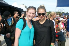 Me and Anna Kournikova, Nautica South Beach Triathlon 2009