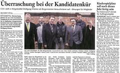 Wolfgang Wiemer wird CDU Bürgermeister-Herausforderer