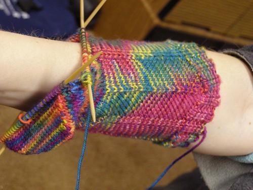 sock #2 in progress