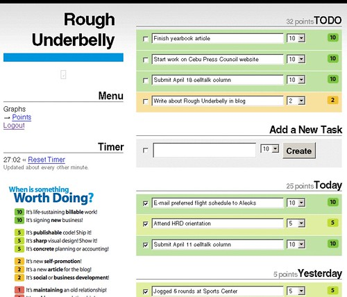 Manage your tasks with Rough Underbelly