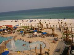 Pool and Beach at Hilton Garden Inn, Pensacola Beach FL