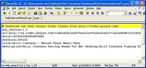 Google Video gvp file