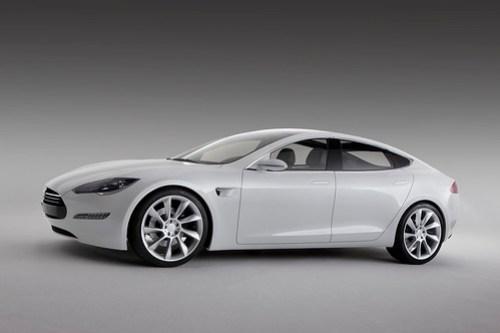 Tesla Model S side view