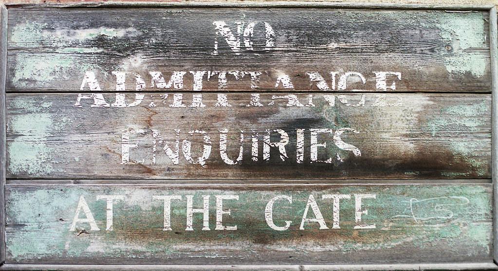 No Admittance
