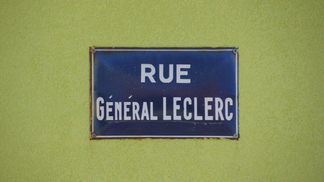 Street sign in Saint-Pierre