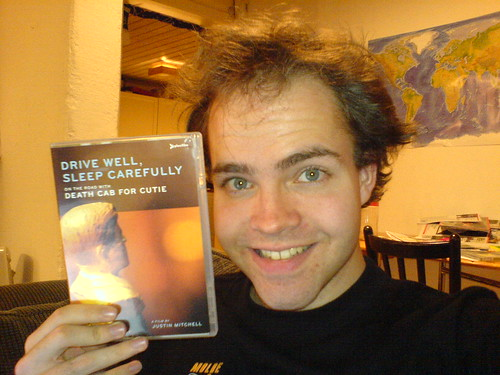 Death Cab for Cutie DVD cover and sleepy netizen