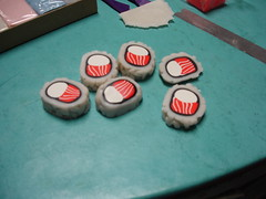Bagel Roll Sushi Magnets Made From Sculpey 8
