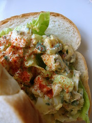 creole remoulade egg salad sandwich