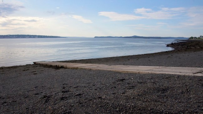 The ramp to the soon-to-arrive ferry from Campobello Island to Deer Island