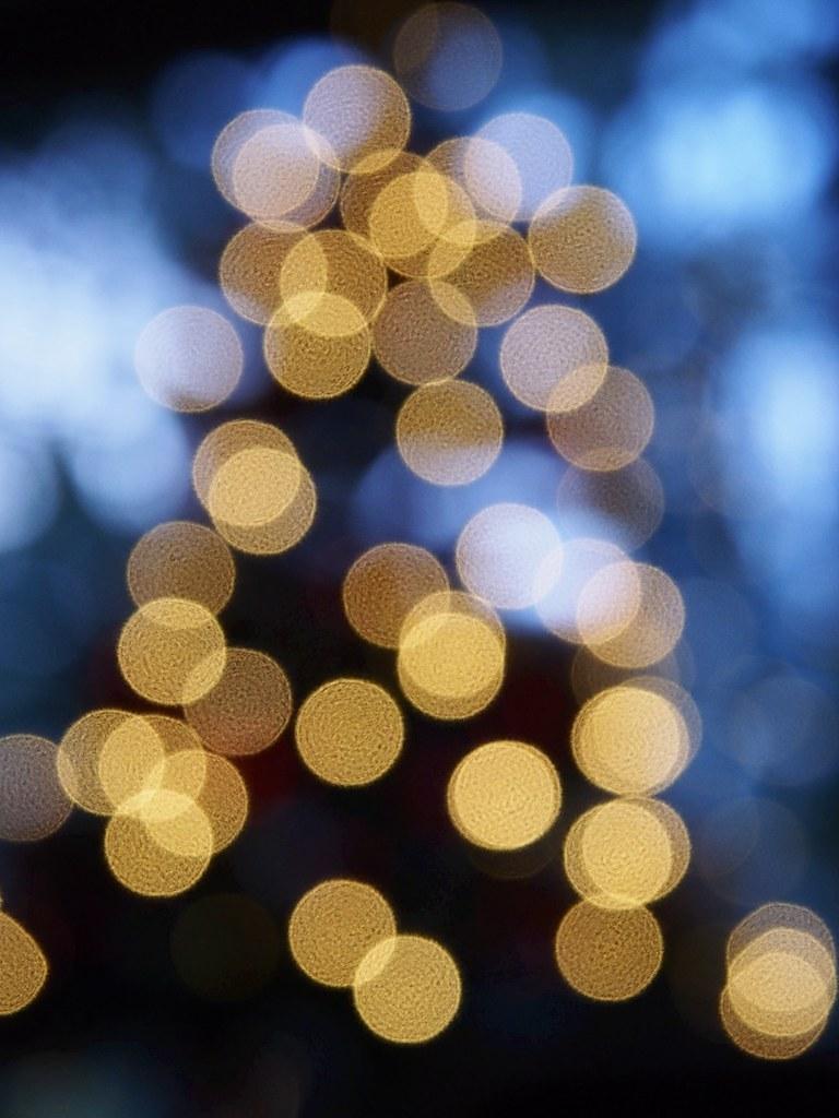 Weihnachtsbaumbokeh