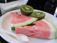 watermelon and kiwi