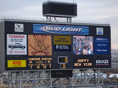 Scoreboard, Music City Bowl, 12.30.2005 - We Won!