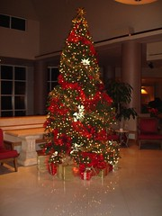 Christmas Tree in Lobby at Perdido Beach Resort, Orange Beach AL