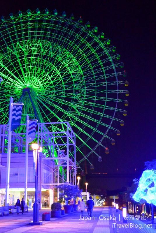 《大阪景点推荐》日本大阪星光游,天保山摩天轮与海游馆