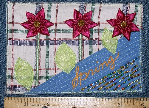 First Fabric Postcard