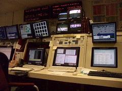 Screens in the Control Room