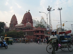 The Jain Temple at the end of Chadni Chowk, opposite the Red Fort