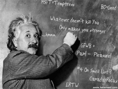 Einstein says it best
