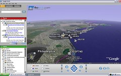 Google Earth Flight Tracking