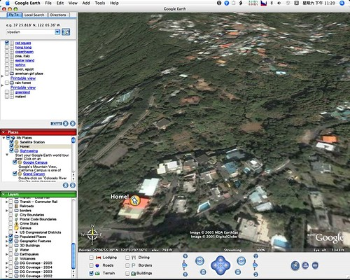 Home on Google Earth