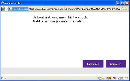 Kinectshare to FB Step 2