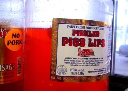 pickled pig lips
