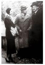 Giuseppe de Finetti con sua moglie Thelma e Adolf Loos