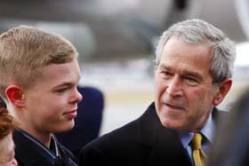 Jason McElwain con Bush
