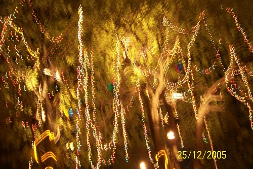 The Lights at Connaught Place -- Christmas 2005