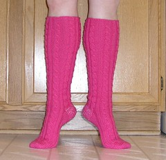 Tall Rib & Cable Socks 3