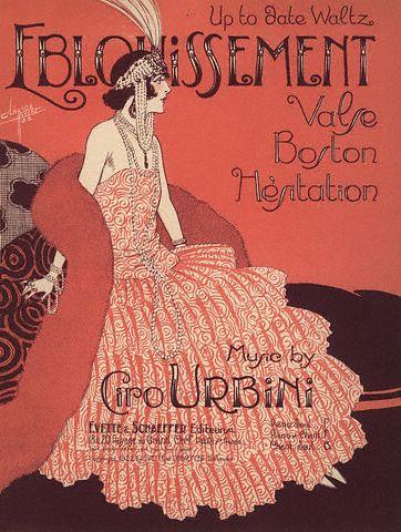 Clerice Freres, Waltz Eblouissement, music poster, 1922