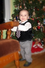 Colin all dressed up
