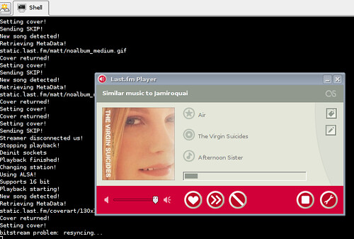 last fm player running in linux