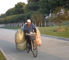 Loaded biker