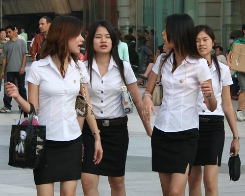 Etudiante de l'universite Chulalongkorn