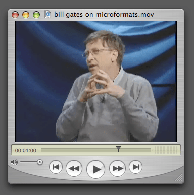 Bill Gates on Microformats