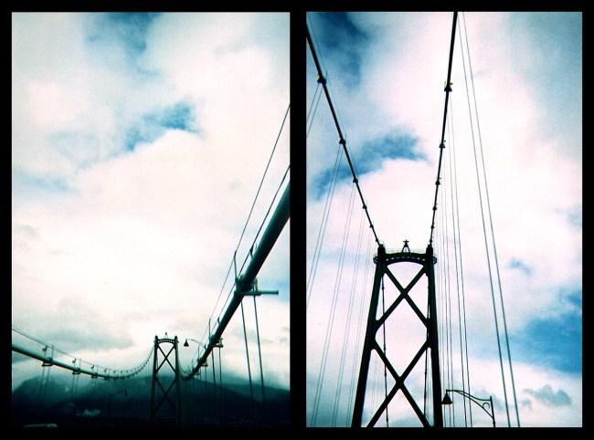 Leaving town via the Lions Gate bridge