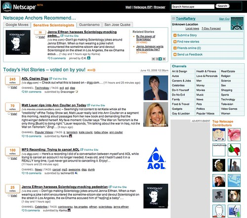The new Netscape site