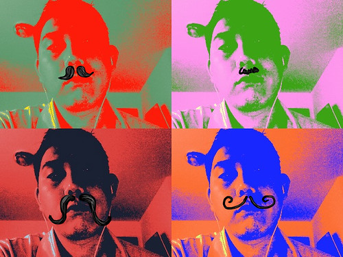 pop art moustache