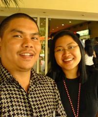 With Angela Tan