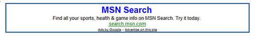 MSN does the Google