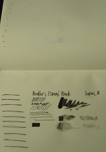 Sample - Noodler's Eternal Black on Moleskine