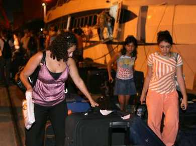 Lebanese-Swedish nationals evacuated to Mersin, southern Turkey seaport