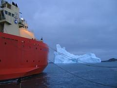 Iceberg moving in