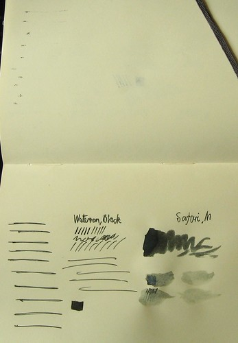 Sample - Waterman Black on Moleskine