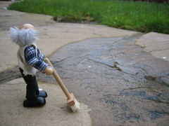 Grandad decides to sweep up