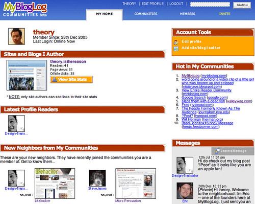 MyBlogLog: Member Homepage