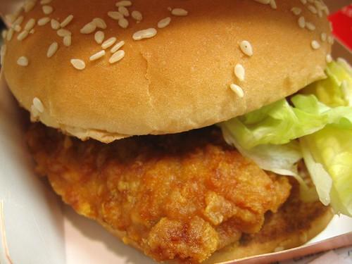 勁辣雞腿堡- spicy chicken burger